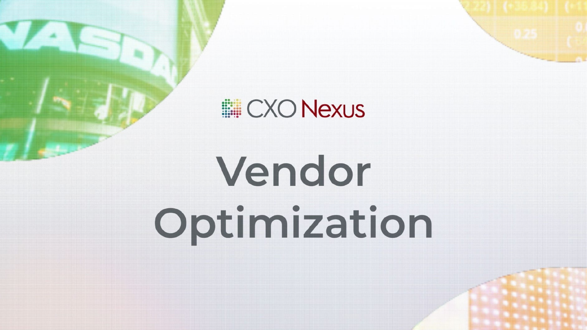 Vendor optimization segment of conversation with Insider Intelligence and Nasdaq about using new technologies to clean and normalize vendor data. Using CXO Nexus to Reveal Spend InCights for Global Enterprise.